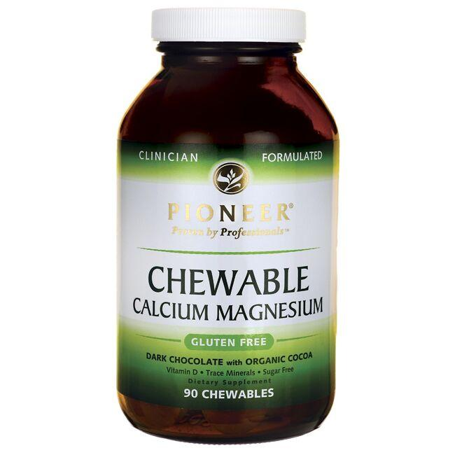 PioneerChewable Calcium Magnesium - Dark Chocolate w/ Organic Cocoa