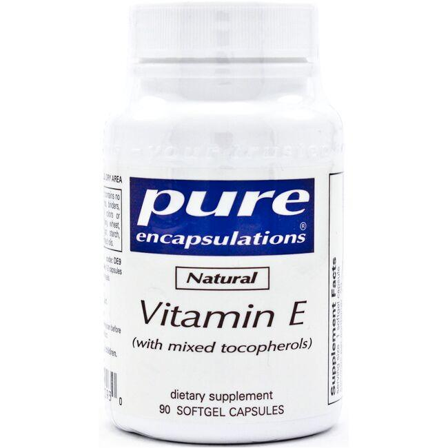 Pure Encapsulations Natural Vitamin E (with mixed tocopherols)