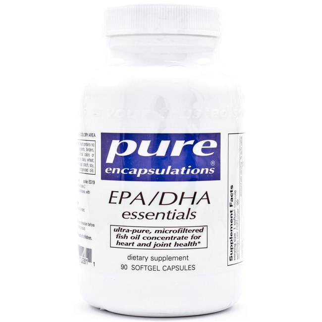 Pure encapsulations epa dha essentials 90 sgels swanson for Prn fish oil