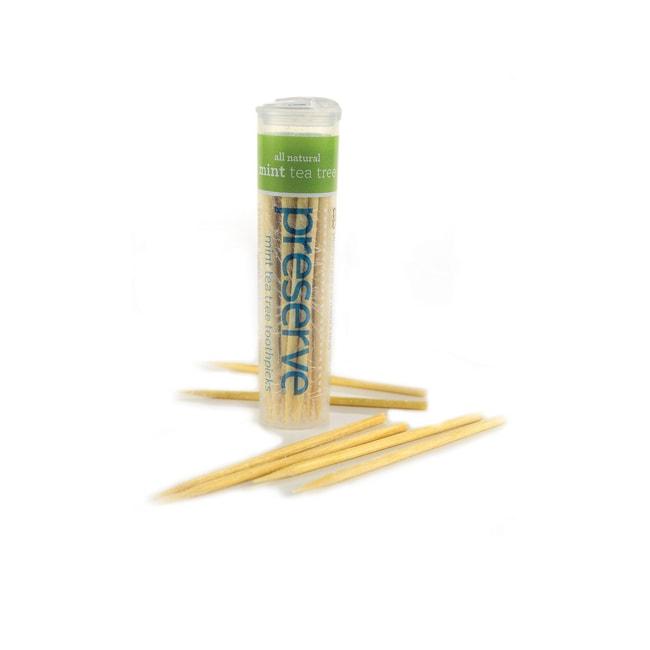 Preserve Mint Tea Tree Toothpicks