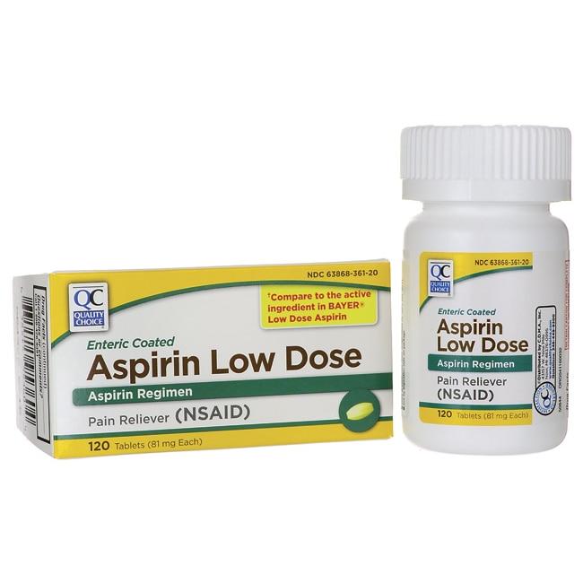 Quality Choice Aspirin Low Dose 81 Mg 120 Tabs