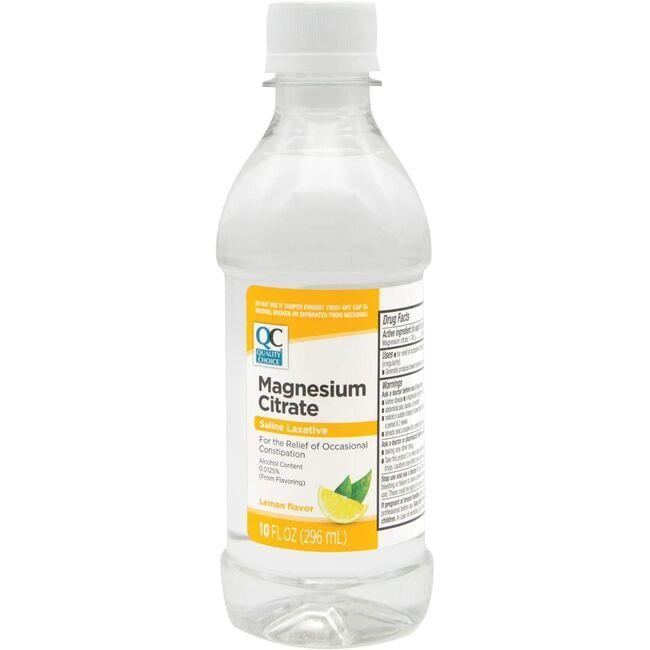 Quality Choice Magnesium Citrate Saline Laxative - Lemon