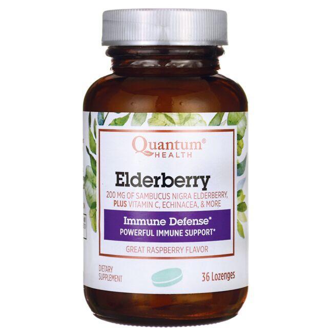 Quantum HealthElderberry+ Lozenges - Raspberry
