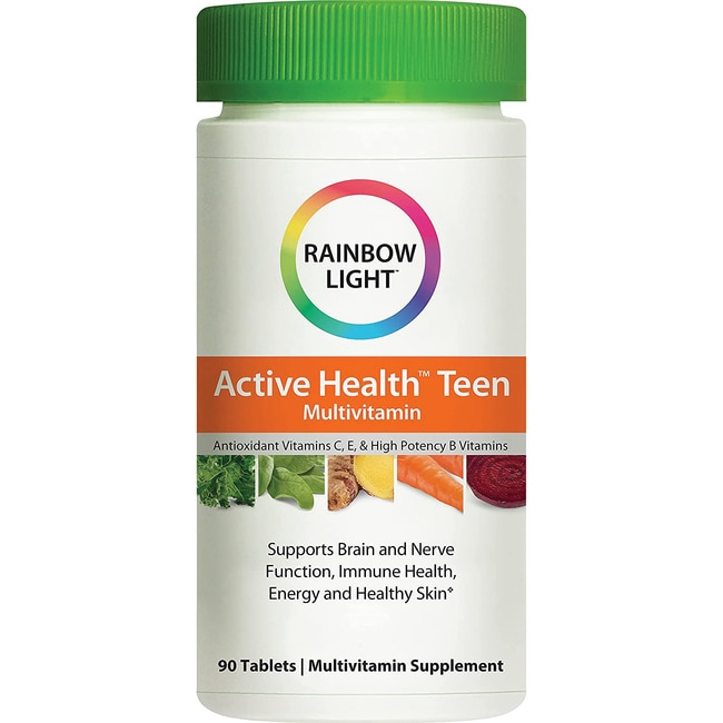 rainbow light active health teen with dermacomplex food based multivi. Black Bedroom Furniture Sets. Home Design Ideas