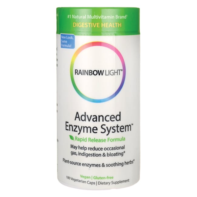 Rainbow Light Advanced Enzyme System 180 Veg Caps