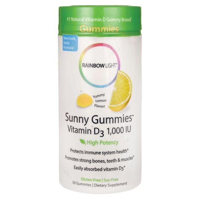 Rainbow LightSunny Gummies Vitamin D3 - Yummy Lemon