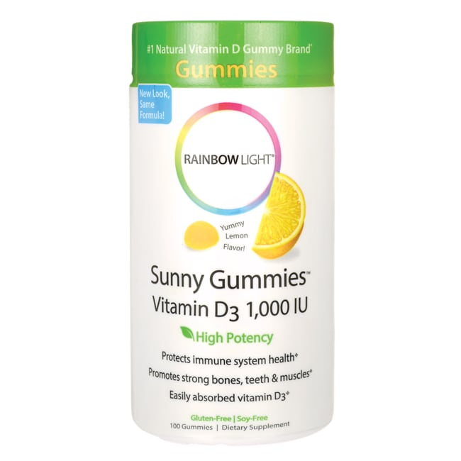 Rainbow Light Sunny Gummies Vitamin D3 - Yummy Lemon