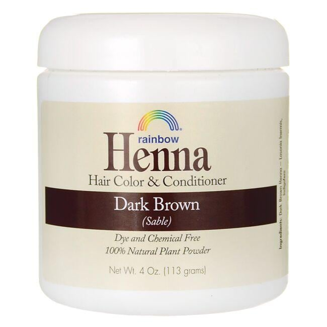 Rainbow Research Henna Hair Color and Conditioner - Dark Brown (Sable)