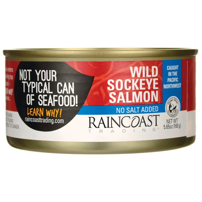 Raincoast Wild Sockeye Salmon No Salt Added