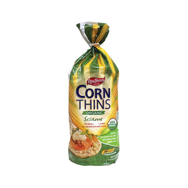 Real Foods Real Foods Corn Thins Sesame