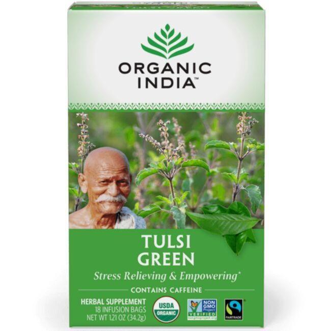 Organic IndiaGreen Tea Tulsi Tea