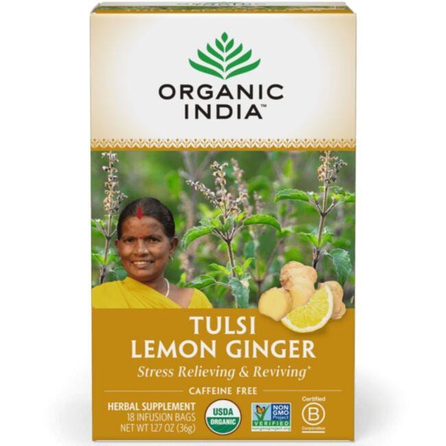 Organic IndiaTulsi Lemon Ginger Tea
