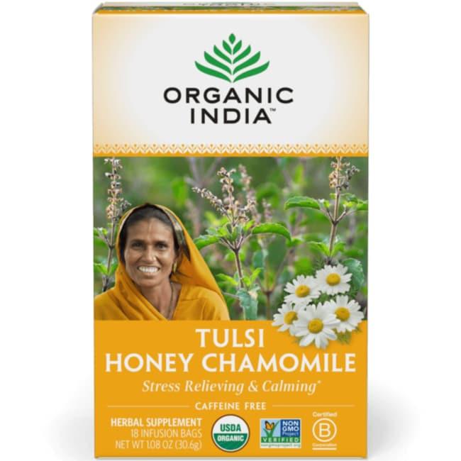Organic IndiaHoney Chamomile Tulsi Tea