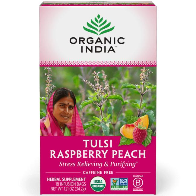 Organic India Tulsi Raspberry Peach Tea