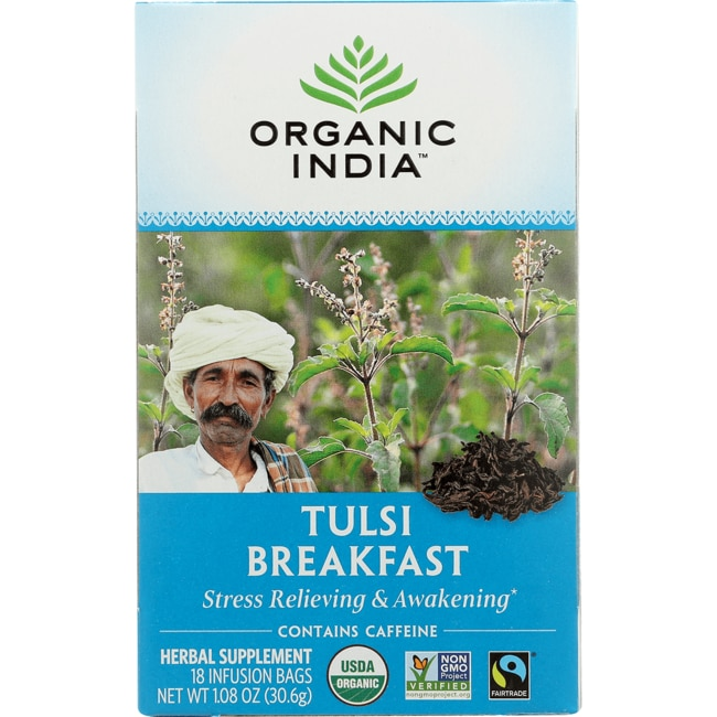 Organic India India Breakfast Tulsi Tea