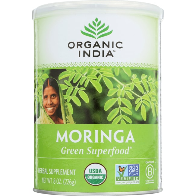 Organic India Moringa Leaf Powder 8 Oz Pwdr Swanson 174
