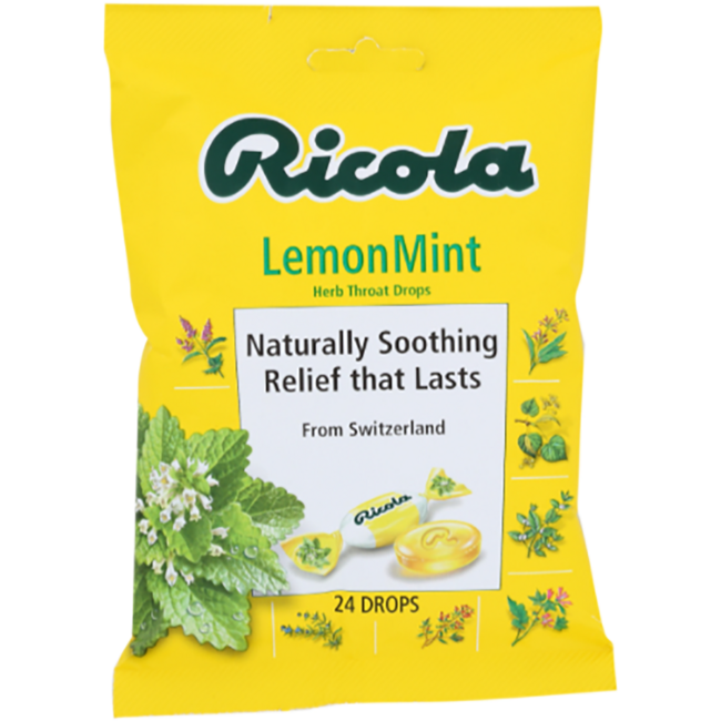 RicolaNatural Herb Throat Drops Lemon Mint