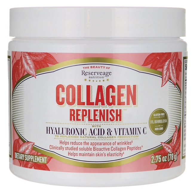 Reserveage NutritionCollagen Replenish with Hyaluronic Acid & Vitamin  C