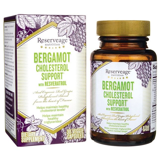 Reserveage NutritionBergamot Cholesterol Support with Resveratrol