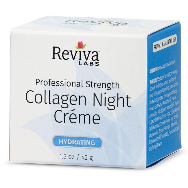 Reviva Labs Collagen Night Cream - 1.5 oz x 2 Clarifying Facial Wash For Oily & Combination Skin Fragrance Free - 8 fl. oz. by Earth Science (pack of 3)