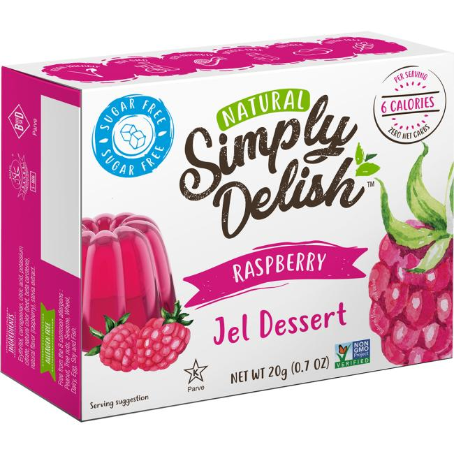 Simply DelishRaspberry Jel Dessert