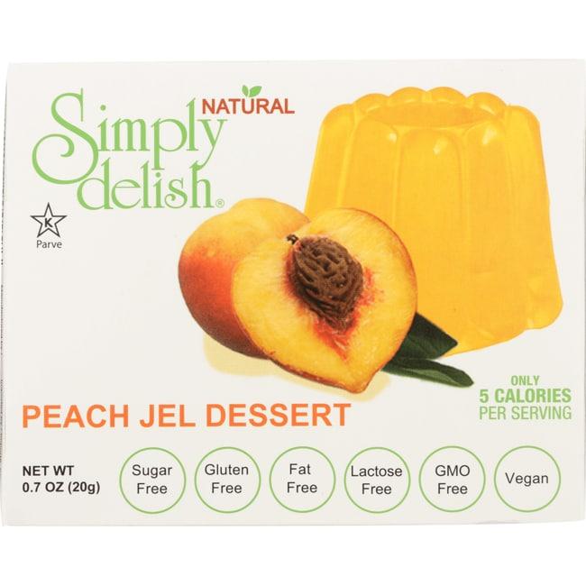 Simply DelishPeach Jel Dessert