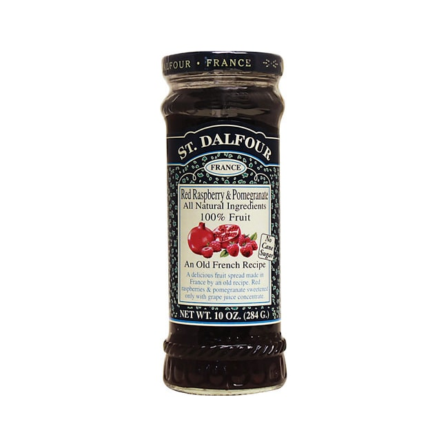 St. Dalfour Fruit Spread 100% Natural Red Raspberry & Pomegranate
