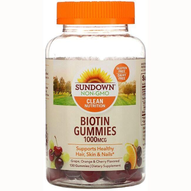 Sundown NaturalsBiotin Gummies - Grape, Orange & Cherry Flavored