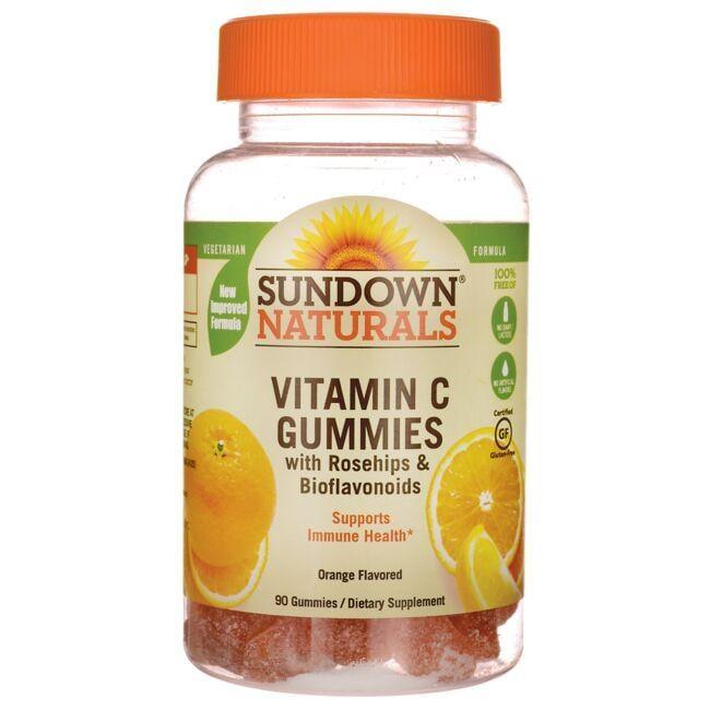 Sundown NaturalsVitamin C Gummies with Rosehips & Bioflavanoids -Orange