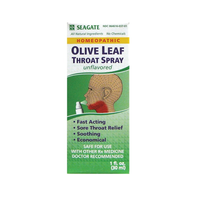SeagateOlive Leaf Throat Spray Unflavored