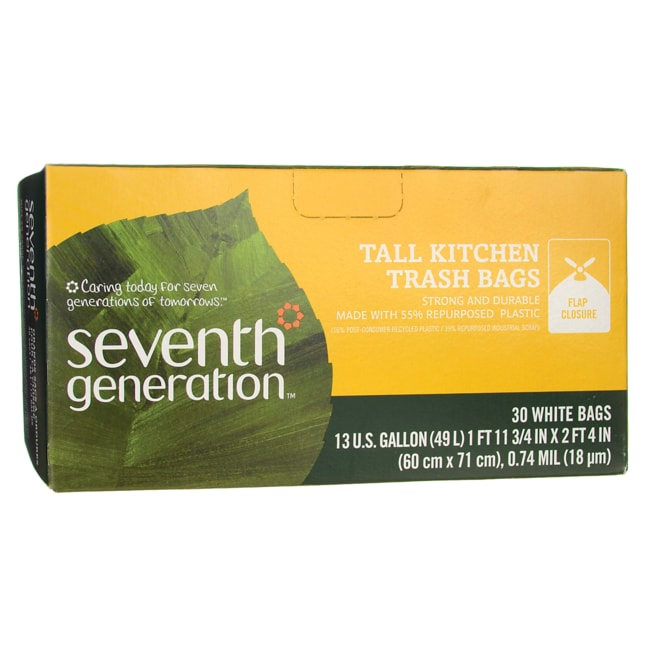 Seventh Generation 13 Gallon Tall Kitchen Trash Bags