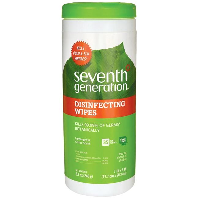 Seventh Generation Disinfecting Wipes - Lemongrass Citrus
