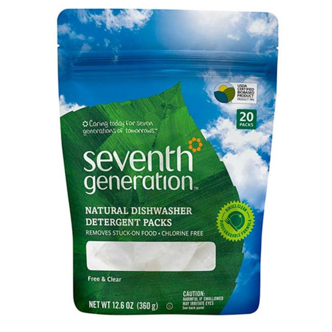 Seventh GenerationNatural Dishwasher Detergent Packs - Free & Clear