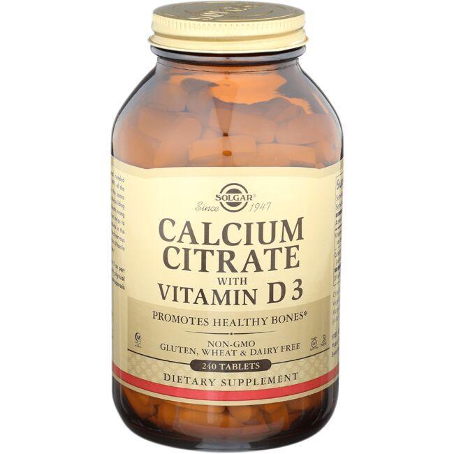 SolgarCalcium Citrate with Vitamin D3