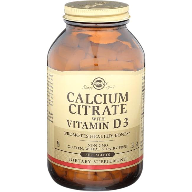Solgar Calcium Citrate with Vitamin D3