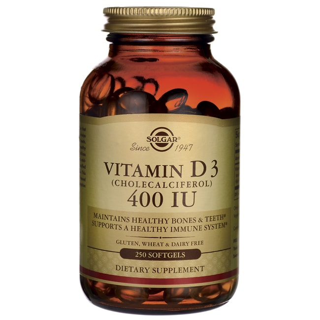 Solgar Vitamin D3 (Cholecalciferol) 400 IU