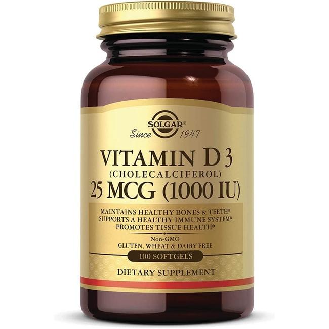 Solgar Vitamin D3 (Cholecalciferol) 1000 IU