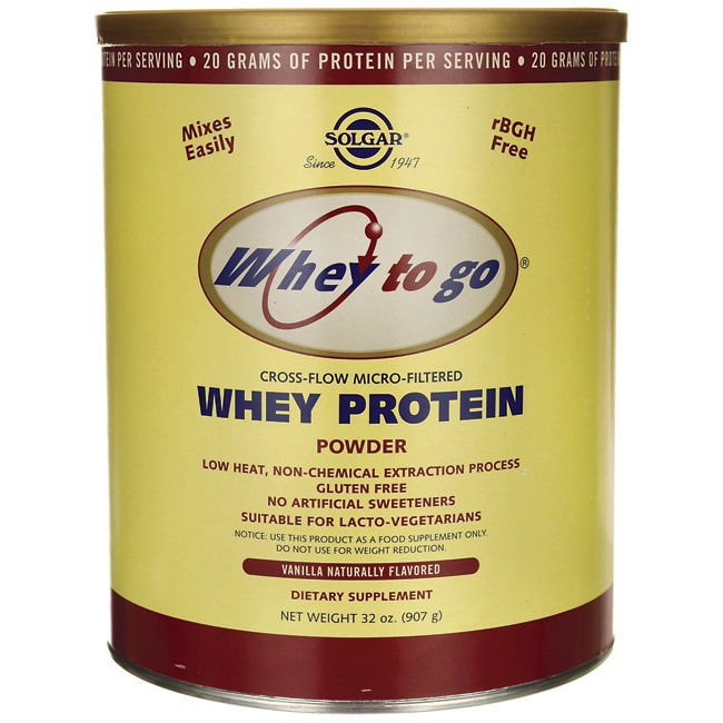 SolgarWhey To Go Whey Protein Powder - Vanilla Naturally Flavored