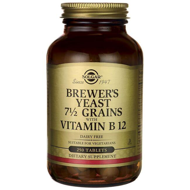 Solgar Brewer's Yeast 7 1/2 Grains with Vitamin B 12