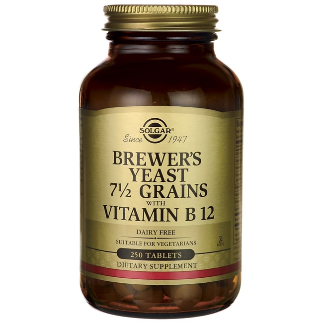 SolgarBrewer's Yeast 7 1/2 Grains with Vitamin B 12
