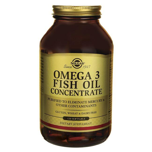 Solgar omega 3 fish oil concentrate 120 sgels swanson for Omega 3 fish oil weight loss