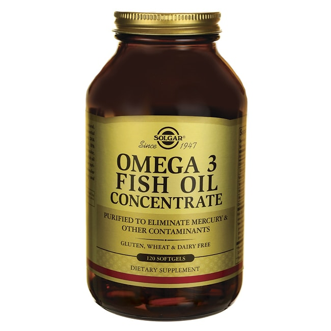 solgar omega 3 fish oil concentrate 120 sgels swanson