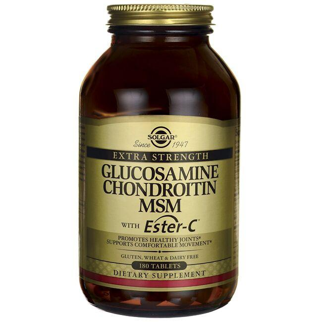 SolgarExtra Strength Glucosamine Chondroitin MSM with Ester-C