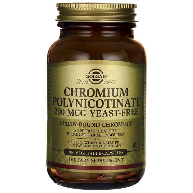 SolgarChromium Polynicotinate Yeast Free