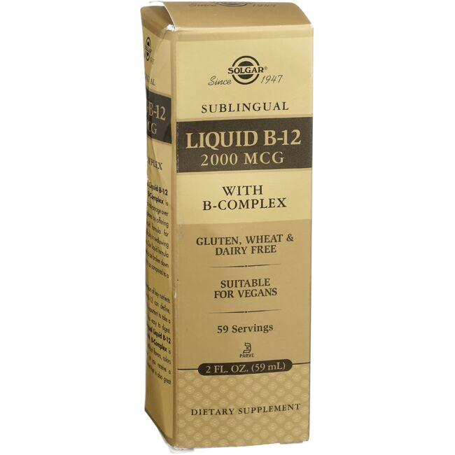 Solgar Sublingual Liquid B-12 with B-Complex