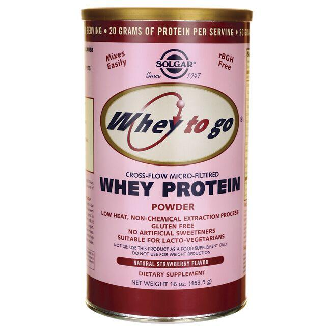 Solgar Whey To Go Protein - Natural Strawberry Flavor