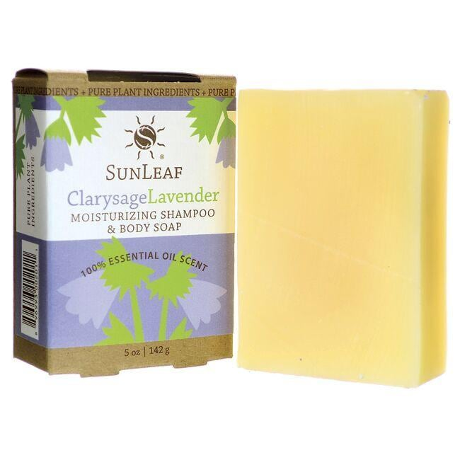 Sunleaf Naturals Moisturizing Shampoo and Body Soap - Clarysage Lavender
