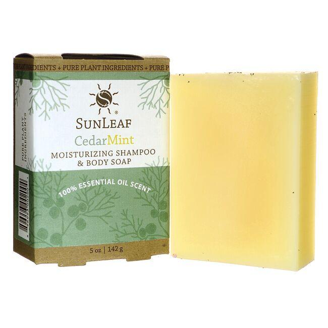 Sunleaf Naturals Moisturizing Shampoo and Body Soap - Cedar Mint