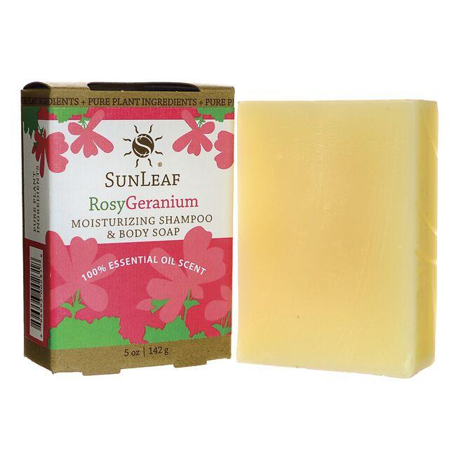 Sunleaf NaturalsMoisturizing Shampoo and Body Soap - Rosy Geranium