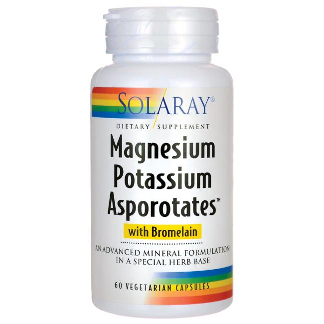 Solaray Magnesium Potassium Asporotates with Bromelain